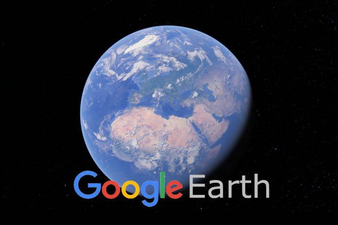 Zemlja iz satelita na Google Earth