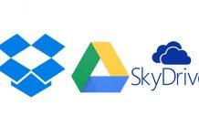 Clous servisi logotio - Dropbox Google Drive SkyDrive
