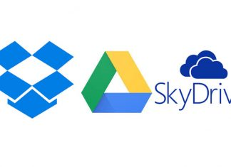 Clous servisi logotio - Dropbox Google Drive SkyDrive