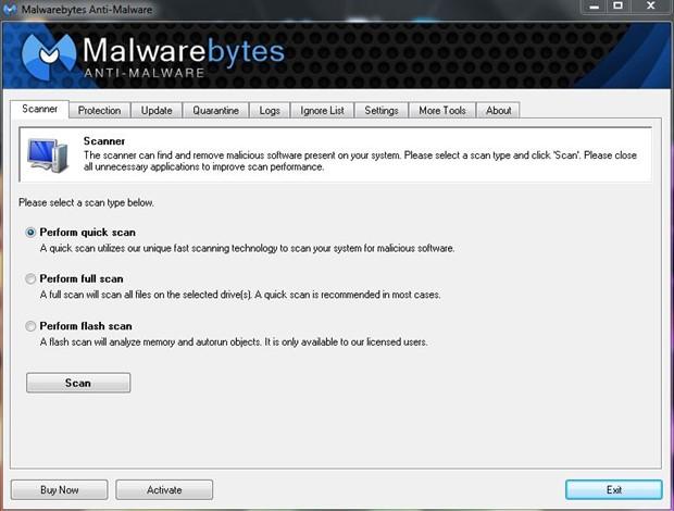 Malwarebytes Anti-Malware 1.70