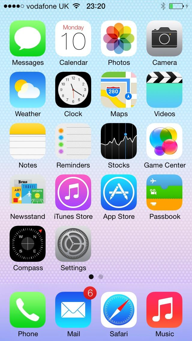 iOS7 Početni zaslon