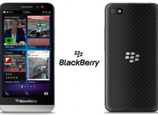 BlackBerry z30 prednja i stražnja strana uređaja