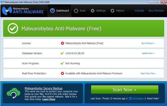Malwarebytes Anti-Malware 2