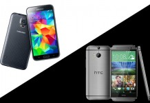 Samsung Galaxy S5 - HTC One (M8)