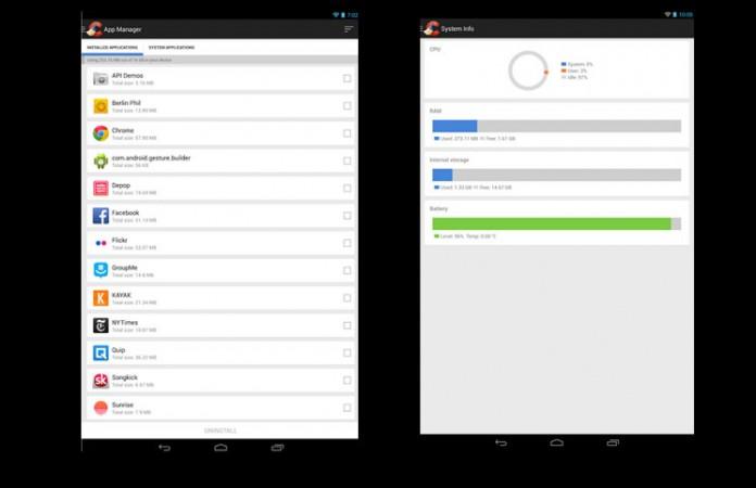 Android CCleander sučelje