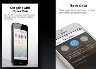 Opera Mini 8 sučelje iOS