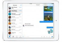 Facebook Messenger za iPad sučelje