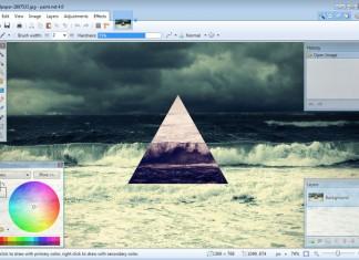 Paint.NET 4.0 sučelje