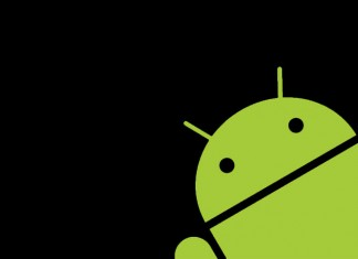Android Logotip na crnoj pozadini