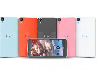 HTC Desire 820 stražnja strana uređaja u raznim bojama