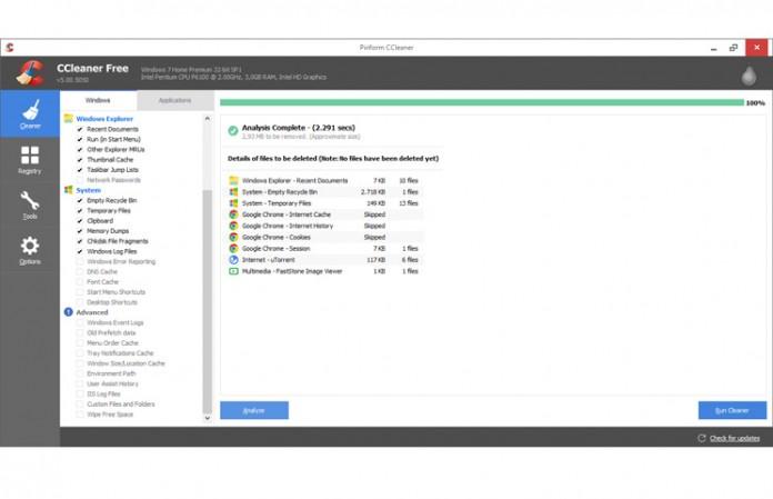 CCleaner 5.0 redizajnirano sučelje
