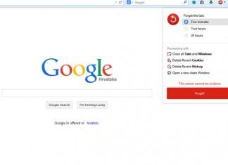 Firefox 33.1 početni zaslon