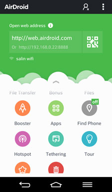 Airdroid android ui