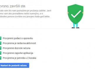 Google provjera sigurnosti