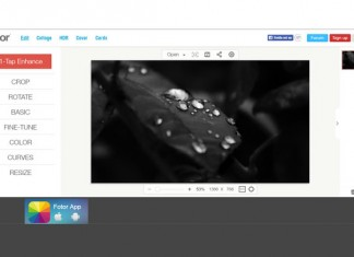 Fotor desktop sučelje