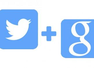 Twitter i Google logo