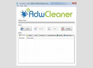 AdwCleaner sučelje