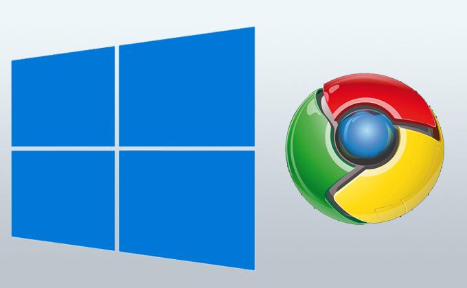 Windows i Google Chrome logo