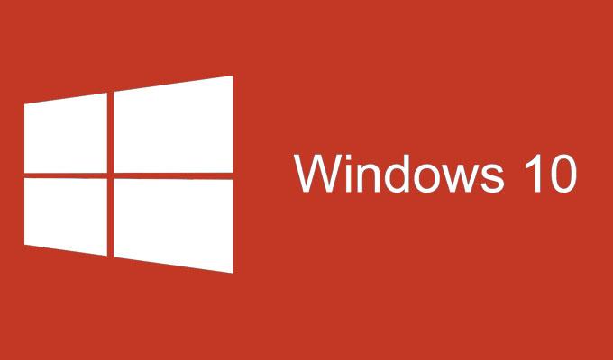 Windows 10 Logotip crveni