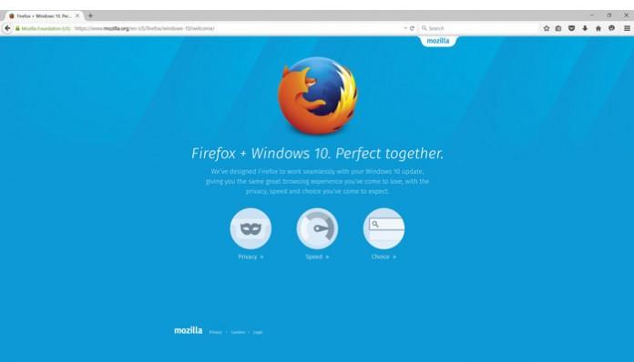Firefox 40 za Windows 10