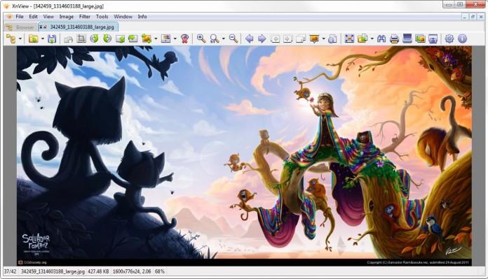 xnview sučelje full screen