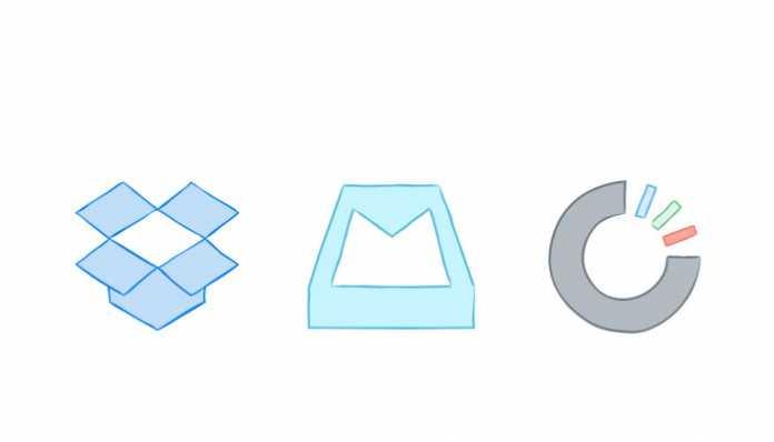 Dropbox Carousel i Mailbox logotip aplikacije