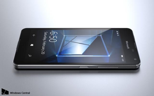 Lumia 650 crna - prednja strana