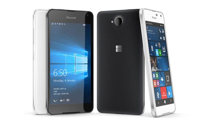 Lumia 650 Crna i bijela varijanta uređaja