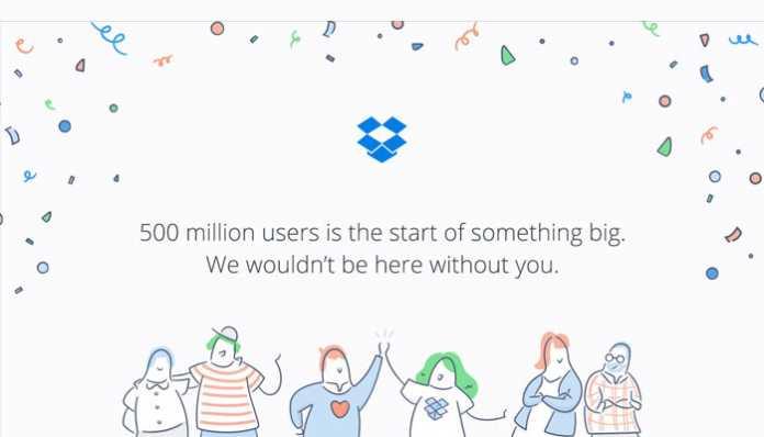 Dropbox 500 milijuna korisnika zahvala banner