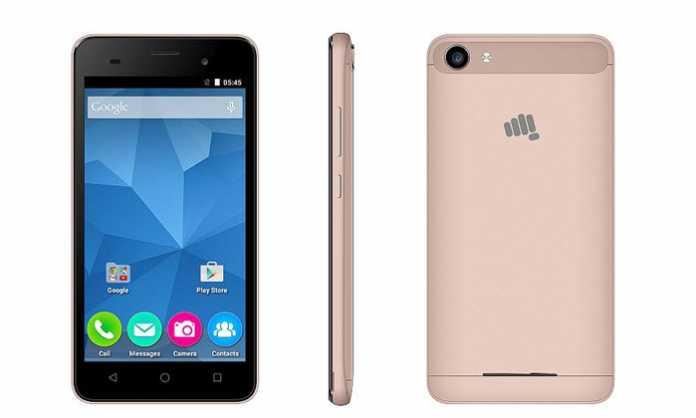 Micromax Canvas Spark 2 Plus zlatna verzija smartfona