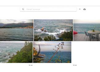 Google Fotografije web sučelje