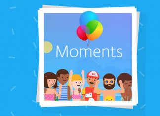 Moments aplikacija web sučelje