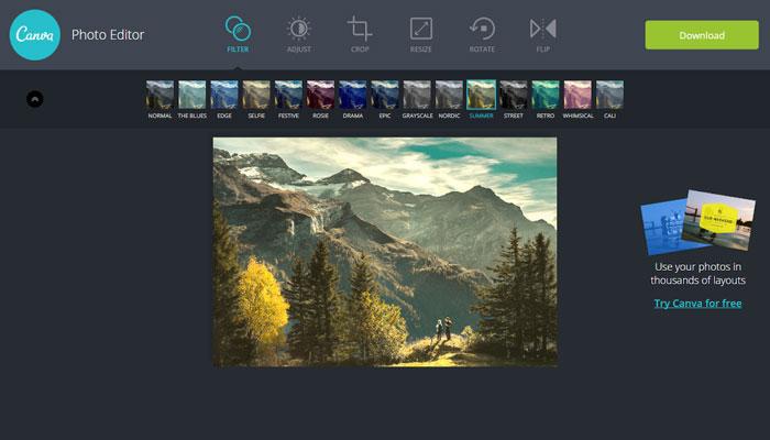 Canava photo editor filteri za fotografije