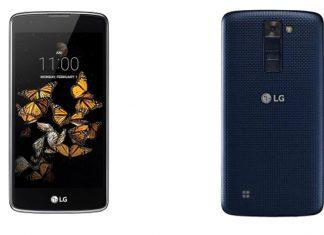 LG K8 dizajn uređaja