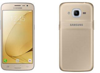 Galaxy J2 (2016) prednja i stražnja ploha pametnog telefona