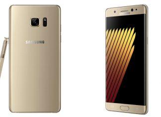 Zlatni Samsung Galaxy Note7