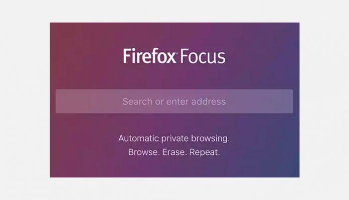 Firefox Focus zaslonska snimka aplikacije
