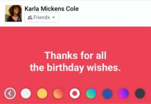 Facebook boja pozadine objave