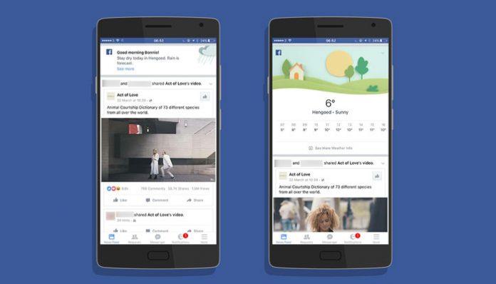 Facebook prognoza vremena