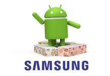 samsung logo i Android 7 logo