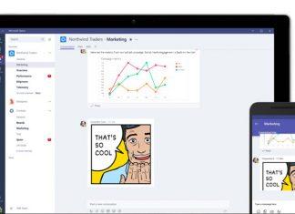 Microsoft Teams izgled aplikacije