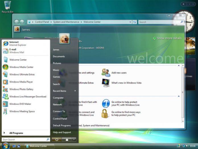 Windows Vista radna površina