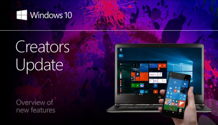 Creators update za Windows 10