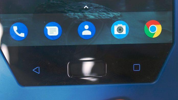 Skener otiska prsta na Nokia 9 telefonu