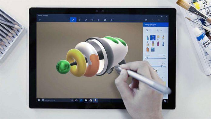 Paint 3D na tabletu