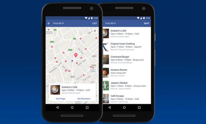Facebook Find WiFi opcija u mobilnoj aplikaciji