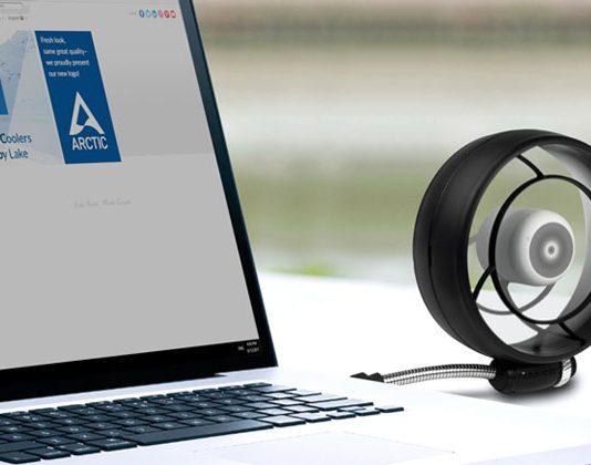 Summair light USB ventilator i laptop