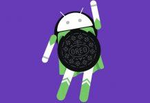 Android Oreo logo ljubičasta pozadina