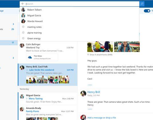 outlook.com beta izgled sučelja