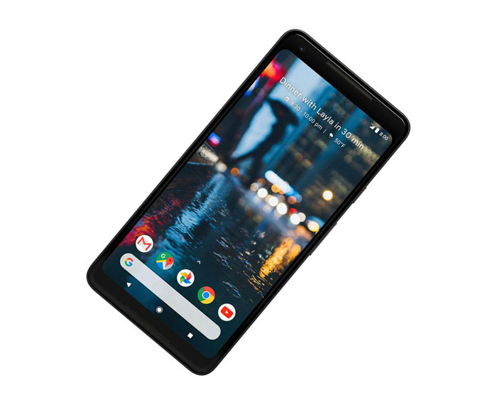 Pixel 2 zaslon telefona